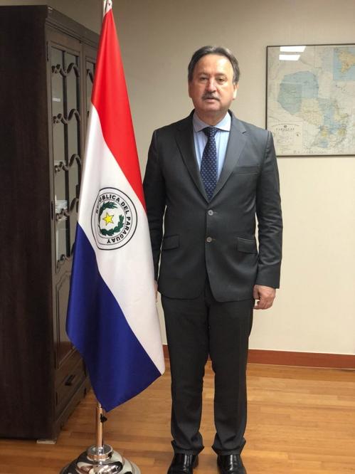 La foto, proporcionada por la Embajada de Paraguay en Corea del Sur, muestra al embajador Raúl Silvero Silvagni.