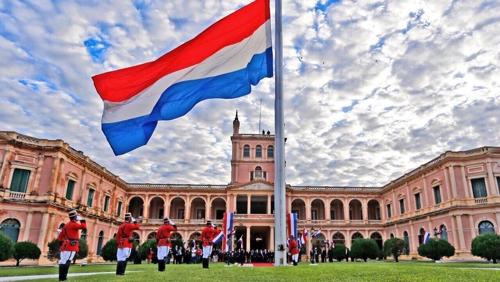 La foto, facilitada por la Embajada de Paraguay en Corea del Sur, muestra el palacio presidencial paraguayo, Palacio de los López.