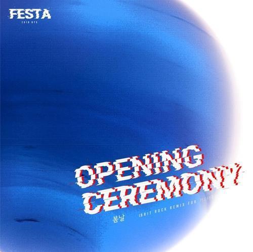 En la imagen, proporcionada por Big Hit Entertainment, se muestra el anuncio de la ceremonia de apertura del Fesival BTS 2018.