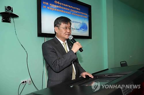 La fotografía de archivo muestra a Baik Joo-hyeon, exembajador de Corea del Sur ante Kazajistán.