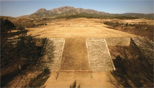 En la imagen, proporcionada por la Administración del Patrimonio Cultural de Corea del Sur, se muestra el sitio de Manwoldae, en Kaesong, Corea del Norte.