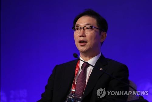 El viceministro de Unificación surcoreano Chun Hae-sung habla durante el Diálogo de Defensa de Seúl, un foro anual de seguridad internacional, celebrado el 13 de septiembre de 2018 en Seúl.