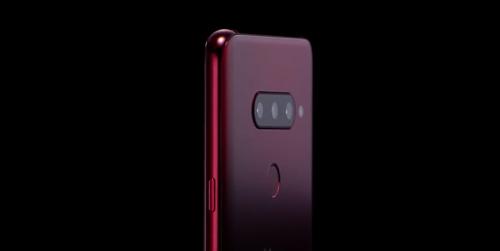 En la imagen, publicada, el 27 de septiembre de 2018, por LG Electronics Inc., se muestra una imagen promocional del nuevo teléfono inteligente de LG, el V40 ThinQ.