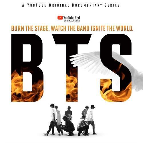 """En esta imagen proporcionada por Big Hit Entertainment se muestra un póster del documental """"Burn the Stage"""" de BTS."""