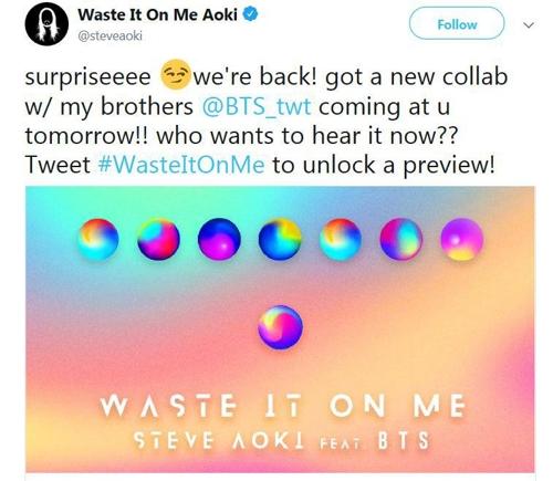BTS y Steve Aoki lanzan colaboración: