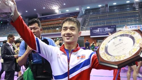 북한 함유성, 코리아오픈 U-21 남자단식 우승 (2018.07.18)