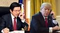 韩代总统与特朗普通话议朝鲜射弹