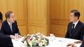 文在寅会晤联合国前秘书长潘基文谈朝核问题