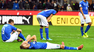 [포토무비] 이탈리아, 60년 만에 월드컵 탈락 '충격'