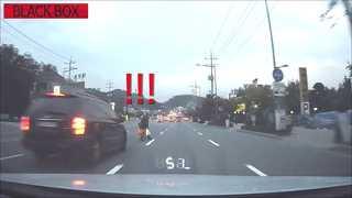 [블랙박스] 자기집 앞마당 거닐듯이 도로 무단횡단