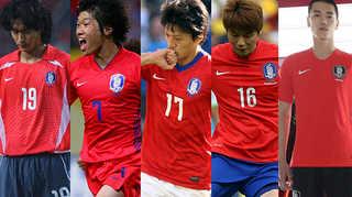 [포토무비] 한눈에 보는 한국 축구대표팀 유니폼 변천사