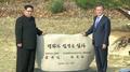 韩朝领导人在板门店共植和平树