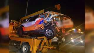 화물차가 도로공사 순찰차 들이받아…1명 사망
