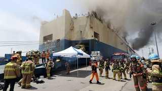 인천항 화물선 화재 마무리 단계…완전진화 시간걸려