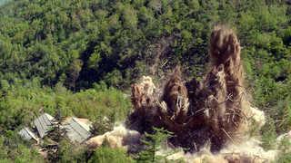 [현장연결] 북한 풍계리 핵실험장 갱도 폭파 장면