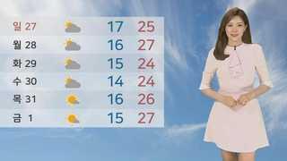 [날씨] 주말 더위에 미세먼지까지…서울 29도 대구 31도