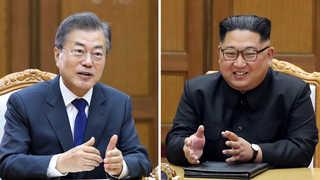 """[녹취구성] 문재인 """"북미회담 성공 기원""""…김정은 """"허심탄회한 대화"""""""