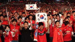 """광화문광장 """"대~한민국"""" 열기 후끈…전반 종료"""