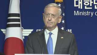 매티스 미 국방장관, 다음주 한국 방문해 훈련 중단 세부 협의