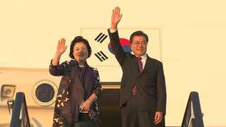 문 대통령, 러시아 국빈방문…'비핵화 지지' 하원 연설