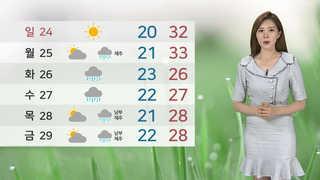 [날씨] 주말 폭염특보 확대…중국 스모그도 유입