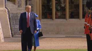 92세 영국 여왕 '땡볕대기'…트럼프 또 외교결례 논란