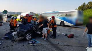 경부고속도로서 차량 6대 잇따라 추돌…7명 부상