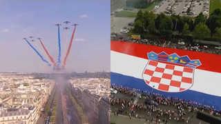 월드컵 영웅들의 귀환…프랑스ㆍ크로아티아 열띤 환영