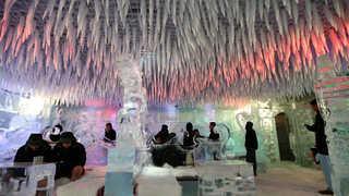 밖은 47도 안은 영하 7도…두바이 '얼음 카페'