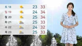 [날씨] 폭염ㆍ열대야 주춤…전국 맑고 공기 깨끗