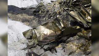 유럽 폭염에 녹은 빙하…72년전 전투기 잔해 드러나