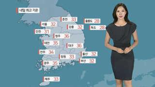 [날씨] 폭염 속 중부 비…태풍 '솔릭' 수요일부터 영향