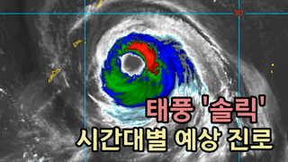 [영상] 최대 400㎜ 이상 폭우…태풍 '솔릭' 시간대별 예상 진로