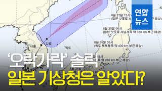 [영상] '오락가락' 솔릭, 일본 기상청은 알았다?