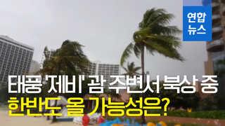 [영상] 태풍 '제비' 북상 중…한반도 올 가능성은?