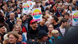 [영상] 독일서 1만명 난민 찬반 맞불 시위…충돌로 부상 속출