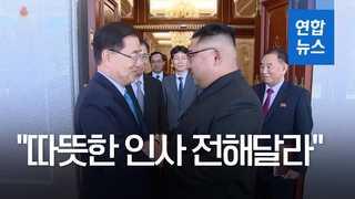 [영상] 북한, 특사단 방북 영상 공개…'화기애애'
