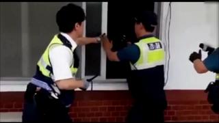 무임승차 들통나자 인질극…경찰, 테이저건으로 제압