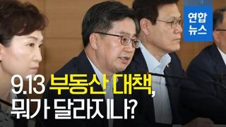 [영상] '9·13 부동산 대책', 뭐가 달라지나?