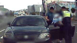 [영상] '비틀비틀' 이상 행동 보인 운전자, 알고 보니 급성 뇌출혈