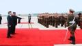 رئيسا الكوريتين يتعانقان ويتفقدان حرس الشرف للجيش الكوري الشمالي