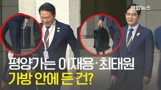 [영상] 방북 수행단 이재용·최태원…가방 안에 든 건?