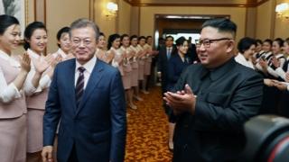 조선노동당 본부청사서 정상회담…남북 2명씩 배석