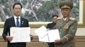 Los jefes de Defensa de las dos Coreas firman un acuerdo militar integral para r..