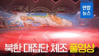 [풀영상] 남북 정상이 함께 관람한 북한 '대집단체조' 공연