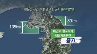 """""""전쟁 없는 한반도 시작""""…육ㆍ해ㆍ공 완충지대 설치"""