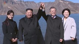 """북한, 남북정상 백두산행 영상 공개…""""역사적 사변"""""""