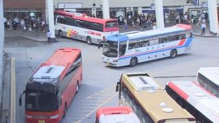 고속터미널 귀성객 몰려…버스운행 확대