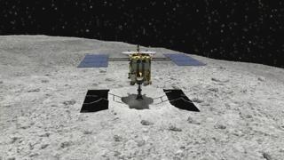 일본 탐사용 로봇 소행성 '류구' 착륙