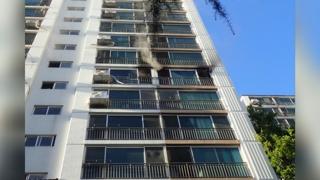 대전 대덕구 아파트서 화재…70대 남성 부상